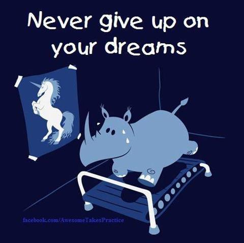 I think this goes with the general gist of my feelings toward publishing. The odds may be long, but I think it's worth trying for. Run, hippo, run!