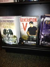 So until the rest of the week to keep obsessing about how awesome Generation V looks on a bookshelf at Barnes & Noble. It's like a baby picture that I can't stop flashing!