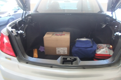 Typically, after that great weekend with many a fun laugh, plus a great round of both Gloom and 7 Wonders? This is the closest thing to a photo I took of everyone – yes, that is the trunk of Rob and Rachel's car.