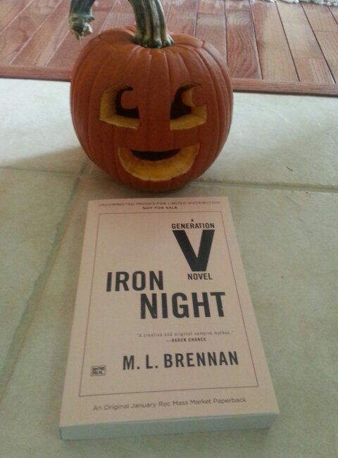 Happy Halloween with an ARC of Iron Night! This picture is courtesy of MMOGamerChick, whose review copy of Iron Night arrived today! Awesome pic, Mogsy!