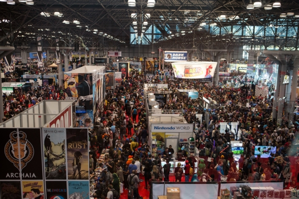Okay, so here's part of the NYCC showroom floor. Now imagine trying to meet up with a friend. It's okay if you want to cry in a corner at the thought, but just remember – the corners are all full of people. You'll have to wait your turn.