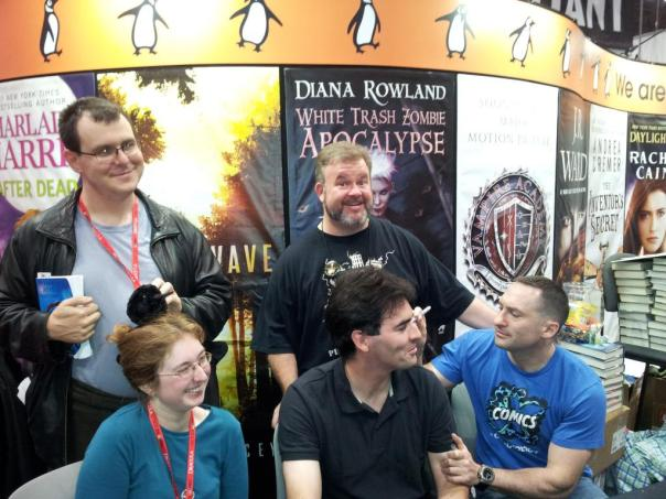 """Photo generously provided by Richard Shealy, SFWA-registered copyeditor, and the time-honored tradition of tormenting British people. Benedict's thought-bubble should be: """"Cursed colonials."""""""